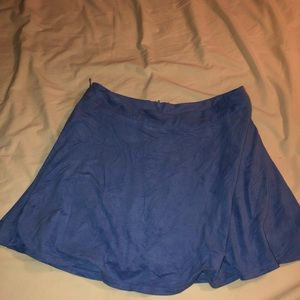 Suede blue skirt